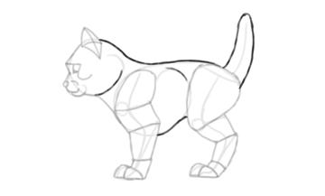 photoshop draw sketch kitten cat simple 18