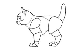 photoshop draw sketch kitten cat simple 19