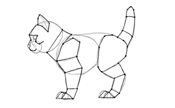 photoshop draw sketch kitten cat simple prepare for animation 2