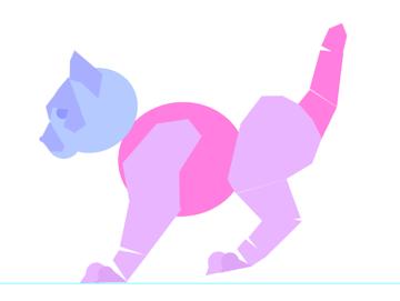 photoshop animation kitten body animal simple 16