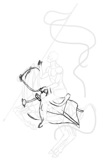 how to draw polish winged hussar horse saddle tack 2