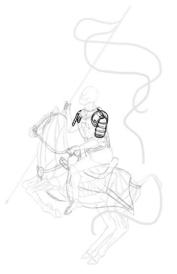 how to draw polish winged hussar cuiryss pauldrons 2