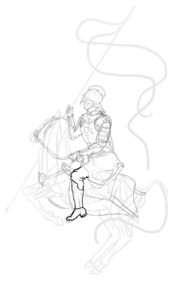 how to draw polish winged hussar boots 2