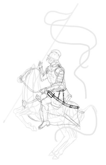 how to draw polish winged hussar boots saber sword 2