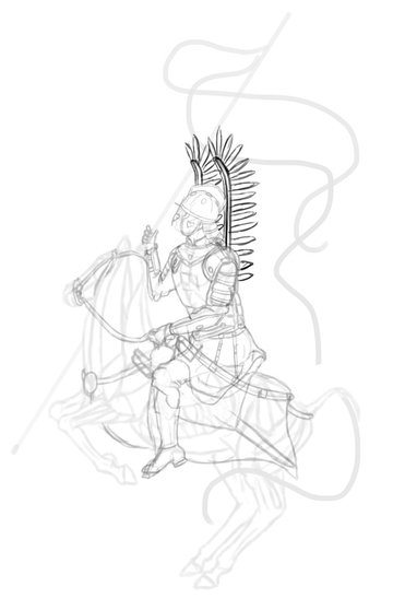 how to draw polish winged hussar wings 2
