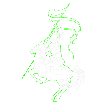 how to draw polish winged hussar outline