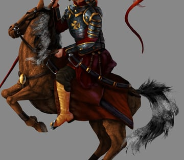 how to paint horse mane tail photoshop 3