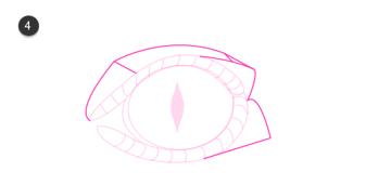how to draw crocodile eyes 4