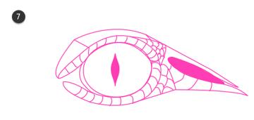 how to draw crocodile eyes 7