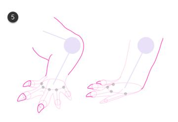 how to draw crocodile paws claws feet 6