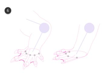 how to draw crocodile paws claws feet 7