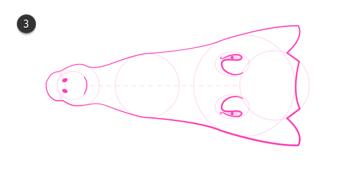 how to draw crocodile head 11