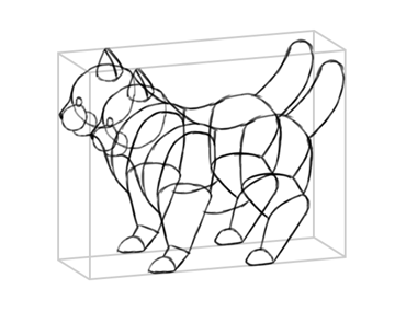 photoshop perspective simple drawing box 3