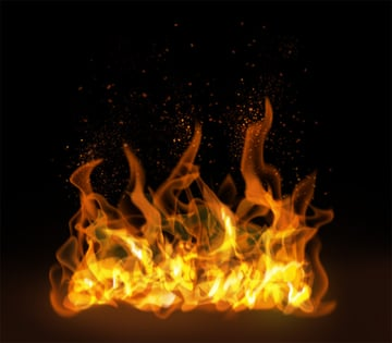 How to paint fire sparks photoshop digital 5