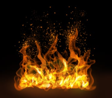How to paint fire sparks photoshop digital 9