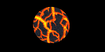 How to paint lava crack rock photoshop digital 16