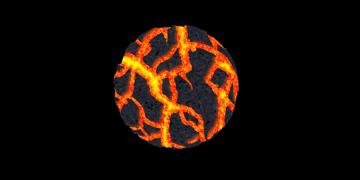 How to paint lava crack rock photoshop digital 17