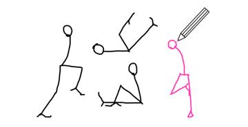 how to draw stick figure stickman tutorial legs feet 11
