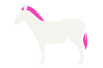 how to draw zebra mane tail