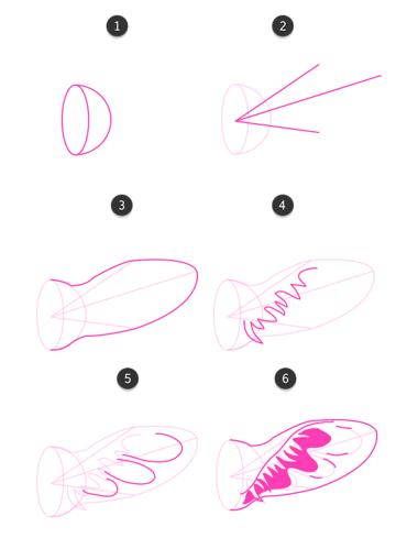 how to draw giraffe ears