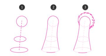 how to draw giraffe horns