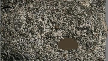 photoshop paint stone spherize texture