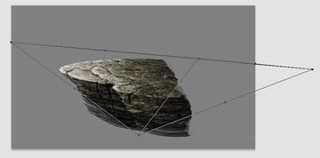 photoshop paint mountain ledge texture perspective