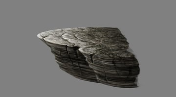 photoshop paint mountain ledge texture rounded repeat
