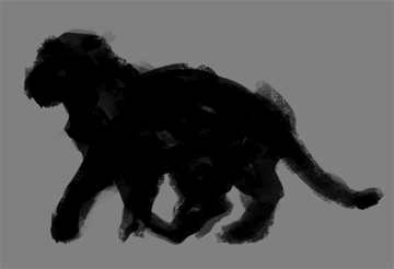 digital painting fur how to start pose animal