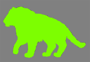digital painting fur outline clipping mask