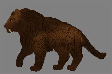 digital painting fur flat colors