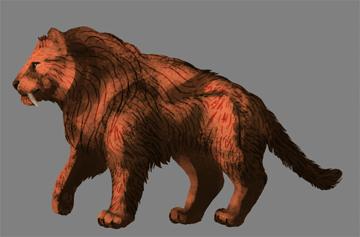 digital painting fur light
