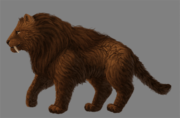 digital painting fur details hair body