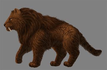 digital painting fur details mane