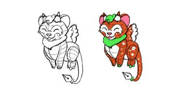 design draw mascot too cute color