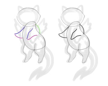 design draw mascot shoulder cat
