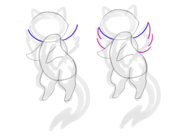 design draw mascot wings angel simple
