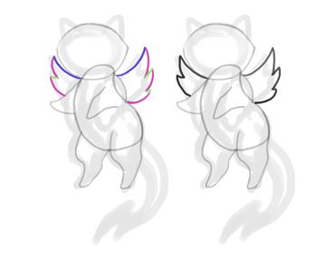 design draw mascot wings angel simple finish