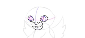 design draw mascot light dot