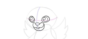 design draw mascot eyes done