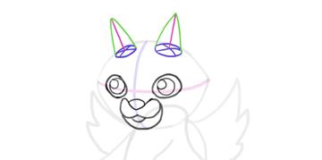 design draw mascot horns cone