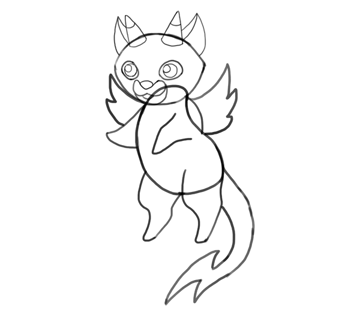 design draw mascot sketch lines almost done