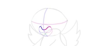 design draw mascot nose bridge