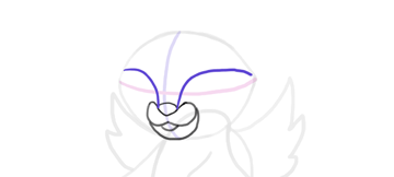 design draw mascot eye socket top