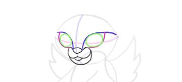 design draw mascot eye socket
