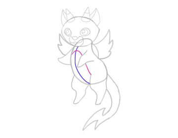 design draw mascot belly patch