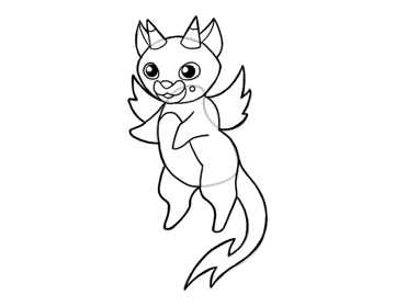 design draw mascot outline darker