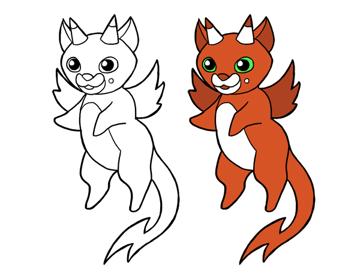 design draw mascot color scheme