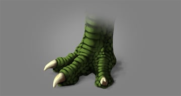 photoshop dragon claw foot paint