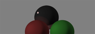 how to shade black white specular reflection color